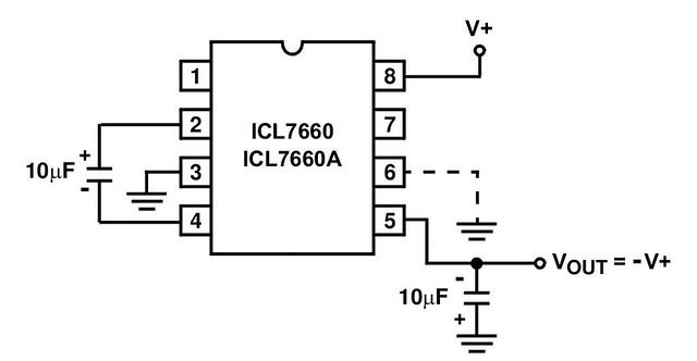 Схема включения микросхемы ICL7660